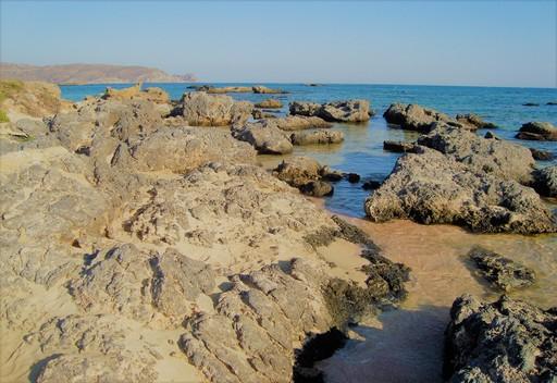 Sandy path through the rocks